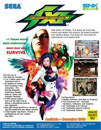 Advert for The King of Fighters XI on the Arcade.