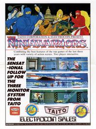 Advert for The Ninja Warriors on the Arcade.