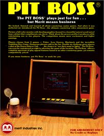 Advert for The Pit Boss on the Arcade.
