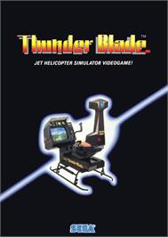 Advert for Thunder Blade on the Atari ST.