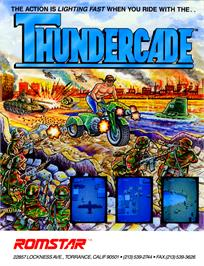 Advert for Thundercade / Twin Formation on the Arcade.