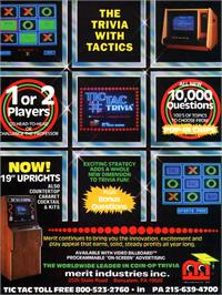 Advert for Tic Tac Trivia on the Arcade.