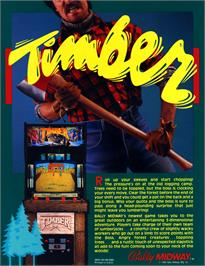 Advert for Timber on the Arcade.