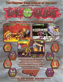 Advert for Time Killers on the Arcade.