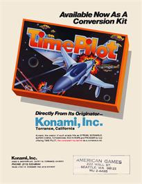 Advert for Time Pilot on the Arcade.