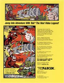 Advert for Toki on the Arcade.