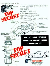 Advert for Top Secret on the Arcade.