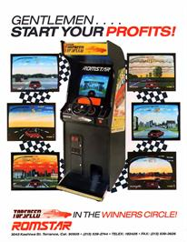Advert for Top Speed on the Arcade.