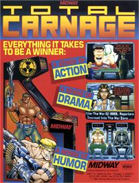 Advert for Total Carnage on the Commodore Amiga CD32.