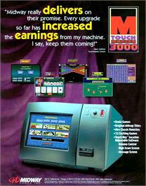 Advert for Touchmaster 3000 on the Arcade.