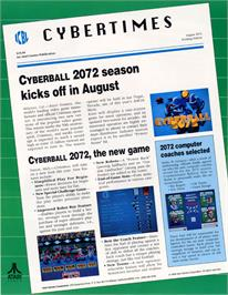 Advert for Tournament Cyberball 2072 on the Atari Lynx.