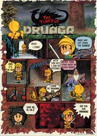 Advert for Tower of Druaga on the MSX.