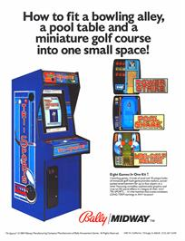 Advert for Tri-Sports on the Arcade.
