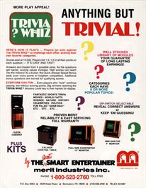 Advert for Trivia ? Whiz on the Arcade.