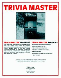 Advert for Trivia Master on the Arcade.