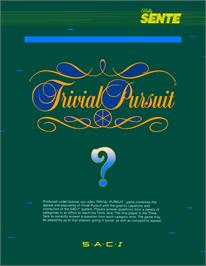 Advert for Trivial Pursuit on the MSX 2.
