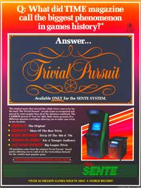 Advert for Trivial Pursuit on the Arcade.