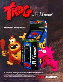 Advert for Trog on the Arcade.