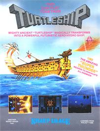 Advert for Turtle Ship on the Arcade.