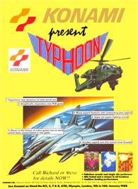 Advert for Typhoon on the Arcade.