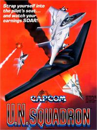 Advert for U.N. Squadron on the Arcade.