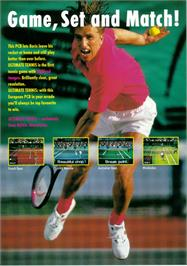 Advert for Ultimate Tennis on the Arcade.