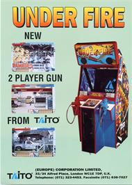Advert for Under Fire on the Arcade.