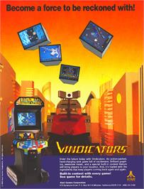 Advert for Vindicators on the Commodore Amiga.
