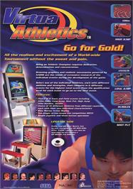 Advert for Virtua Athletics / Virtua Athlete on the Arcade.