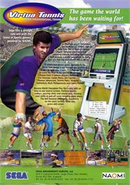 Advert for Virtua Tennis / Power Smash on the Arcade.