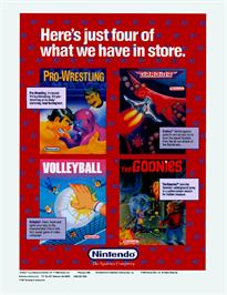 Advert for Volley Ball on the Nintendo Arcade Systems.