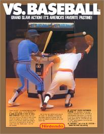 Advert for Vs. BaseBall on the Nintendo Arcade Systems.