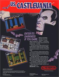 Advert for Vs. Castlevania on the Arcade.