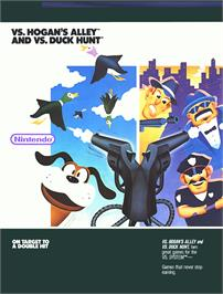 Advert for Vs. Hogan's Alley on the Nintendo Arcade Systems.