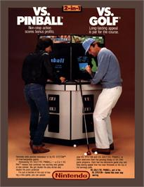Advert for Vs. Pinball on the Arcade.