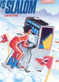 Advert for Vs. Slalom on the Nintendo Arcade Systems.