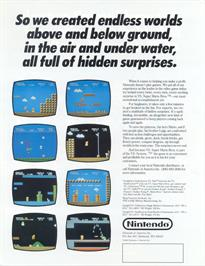 Advert for Vs. Super Mario Bros. on the Nintendo Arcade Systems.
