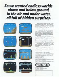 Advert for Vs. Super Mario Bros. on the Arcade.