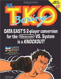 Advert for Vs. T.K.O. Boxing on the Arcade.