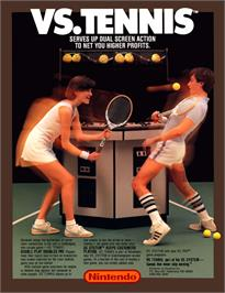 Advert for Vs. Tennis on the Nintendo Arcade Systems.