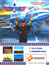 Advert for Vs. Top Gun on the Arcade.