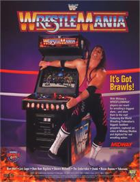 Advert for WWF: Wrestlemania on the Arcade.