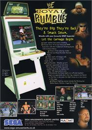 Advert for WWF Royal Rumble on the Arcade.