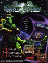 Advert for War Gods on the Arcade.