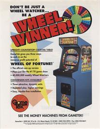 Advert for Wheel Of Fortune on the Sega Genesis.