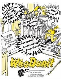 Advert for Who Dunit on the Arcade.