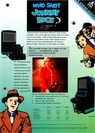Advert for Who Shot Johnny Rock? v1.5 on the Arcade.