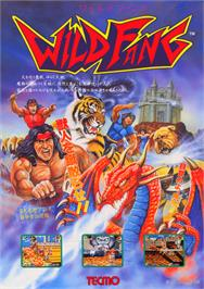 Advert for Wild Fang / Tecmo Knight on the Arcade.