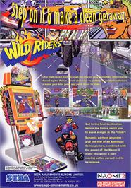 Advert for Wild Riders on the Arcade.
