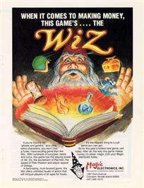 Advert for Wiz on the Arcade.